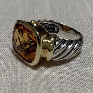 DAVID YURMAN Noblesse Silver & Gold Citrine Ring